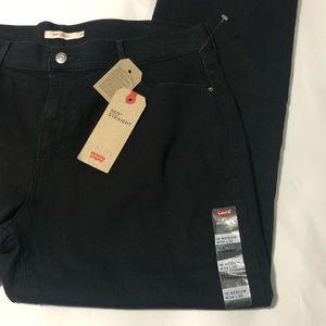 Levis 505 Black Jeans Midrise 34x32 Straight Leg